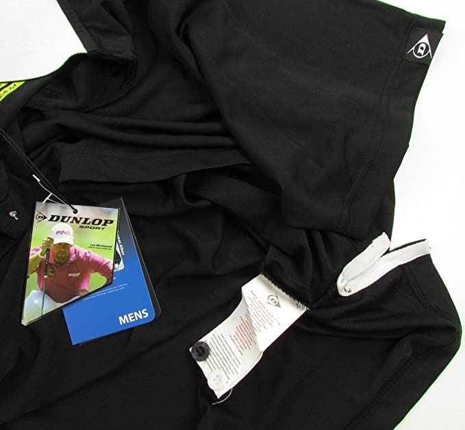 Dunlop - Polo - Polo - para hombre negro XXX-Large: Amazon.es ...