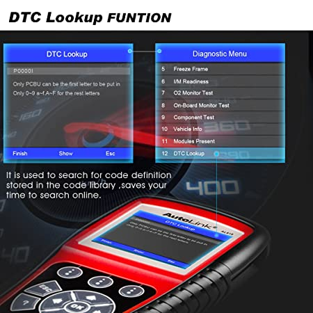 Autel AL619 Autolink Engine/ABS/SRS Auto OBD2 Scanner Car Code Reader  Automotive Diagnostic Tool