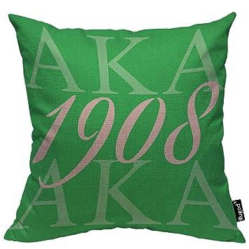 Amazon.com: Mugod AKA 1908 - Funda de cojín cuadrada de lino ...