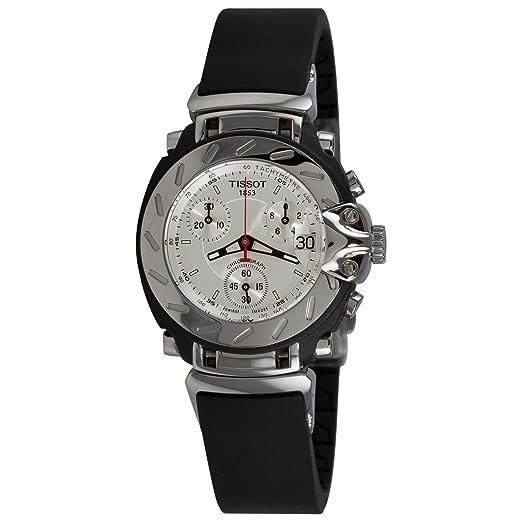 Tissot T-RACE T0112171703100 - Reloj de mujer de cuarzo, correa de acero inoxidable color negro: Amazon.es: Relojes