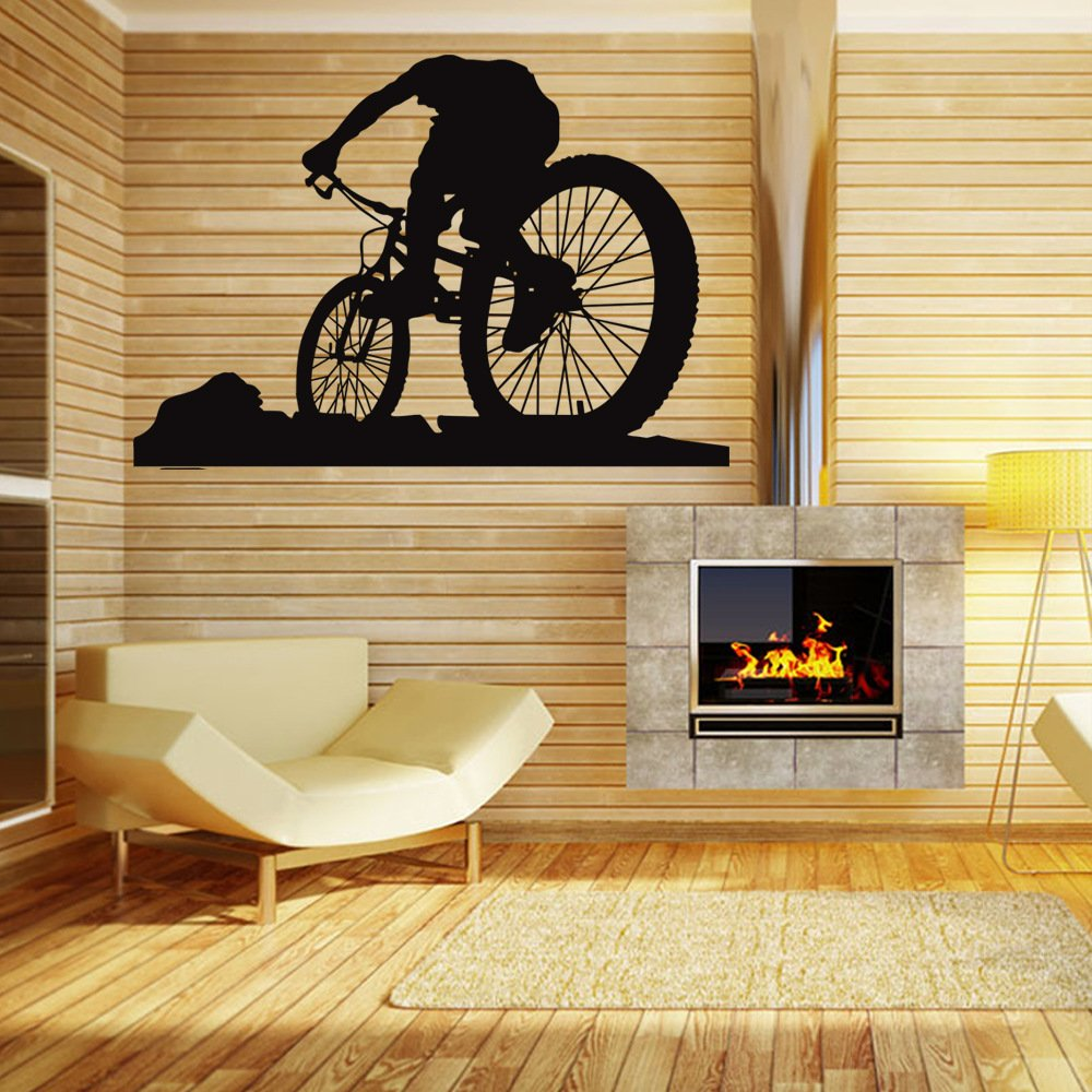 Amazon.com: Home Decor Wall Decals Mountain Bike Sport Style 3D Wall ...