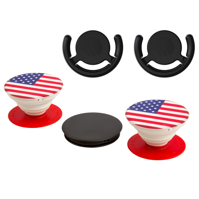 PopSockets USA Flag 5 Pack Secure Grip Versatile Stand Car
