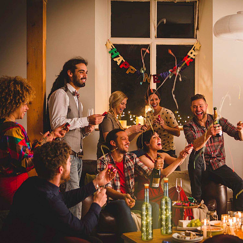 Cuisine HUAFA Lampes de Bouteille Bouteille Argent Halloween D/écor de Partie LED Lumi/ères /étincelantes pour DIY Bouteille Lumi/ères Mariage No/ël rechargeables en USB Blanche chaude 1 Pi/èces