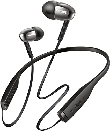 Amazon Com Philips Shb5950bk 00 Wireless Bluetooth Headset Knot Free Neckband Design Microphone Black Home Audio Theater