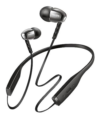 Philips SHB5950BK/00 Wireless Bluetooth Headset (Knot-Free Neckband Design, Microphone)