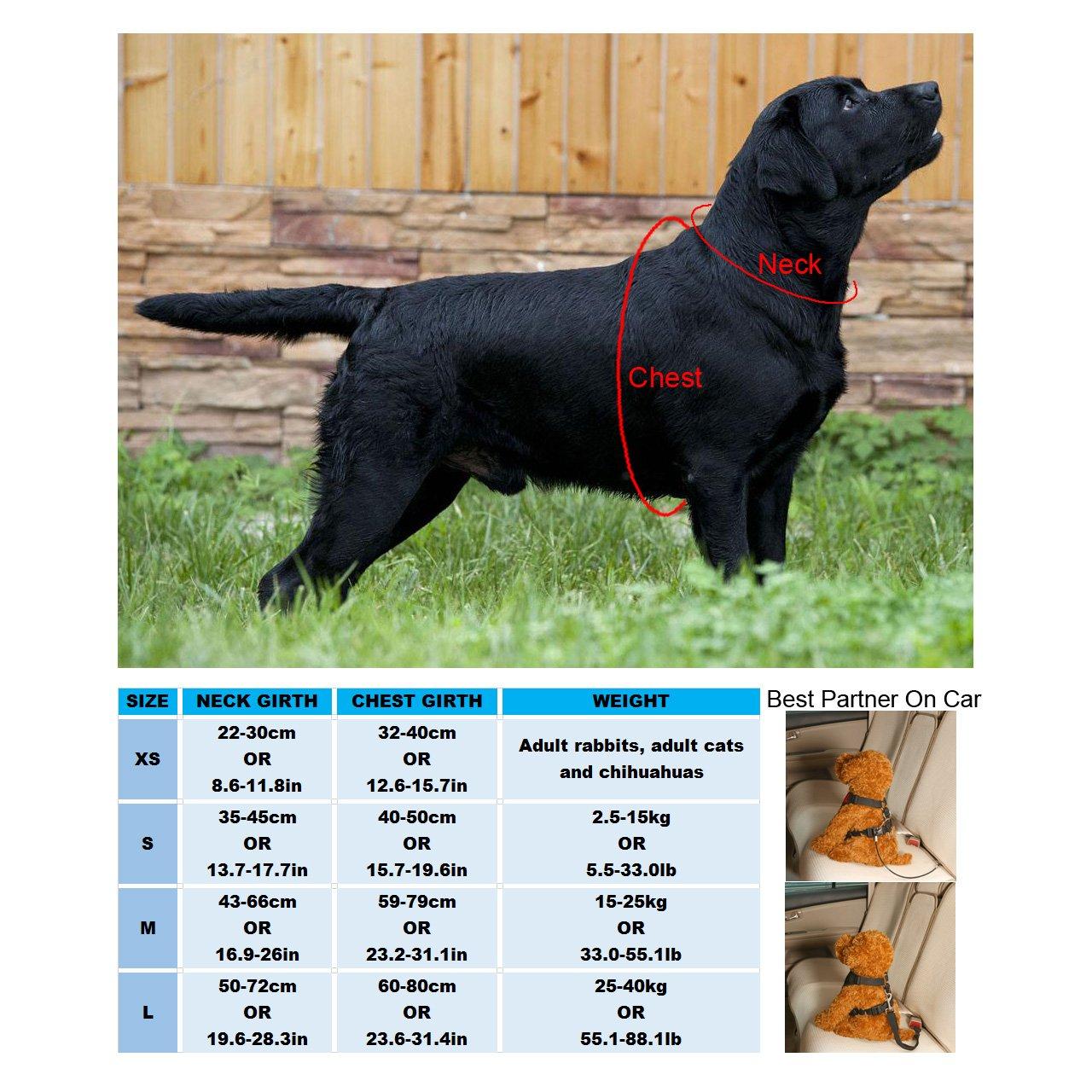 GraceMe Pet Dog Vest Harness Car Soft Mesh Front Range No Pull Harness Adjustable for Rabbit Cat Chiwawa Small Medium Large