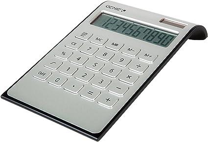 Genie DD400 - Calculadora de mesa (con Dual-Power, 10 dígitos ...