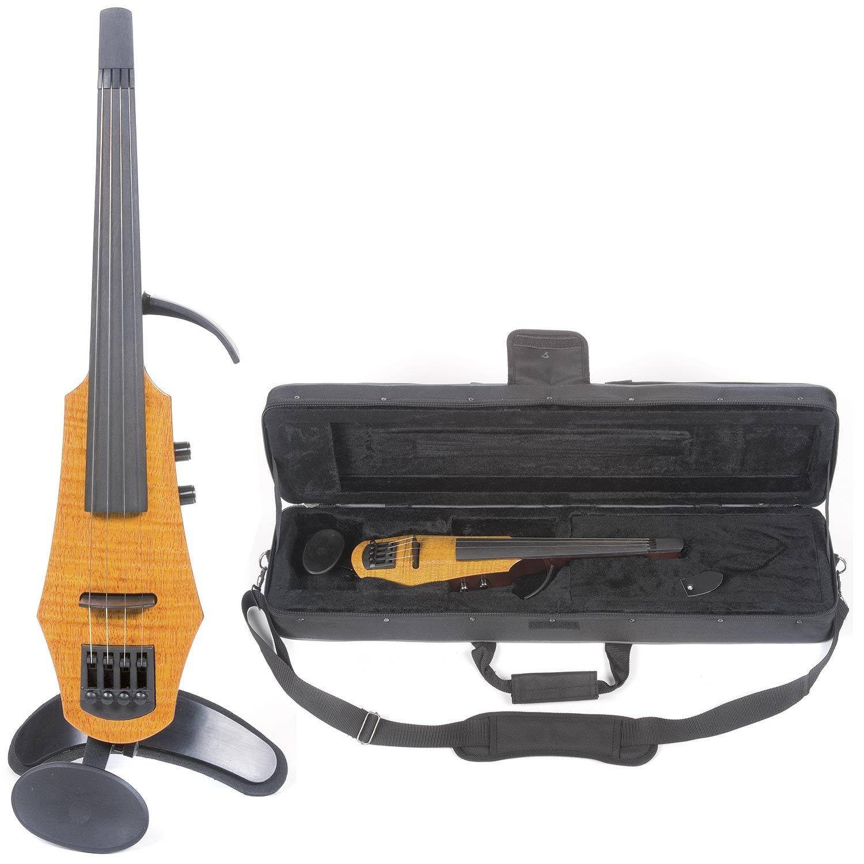 NS Design WAV-4 Electric 4-String Amber Burst Violin with Hard Case