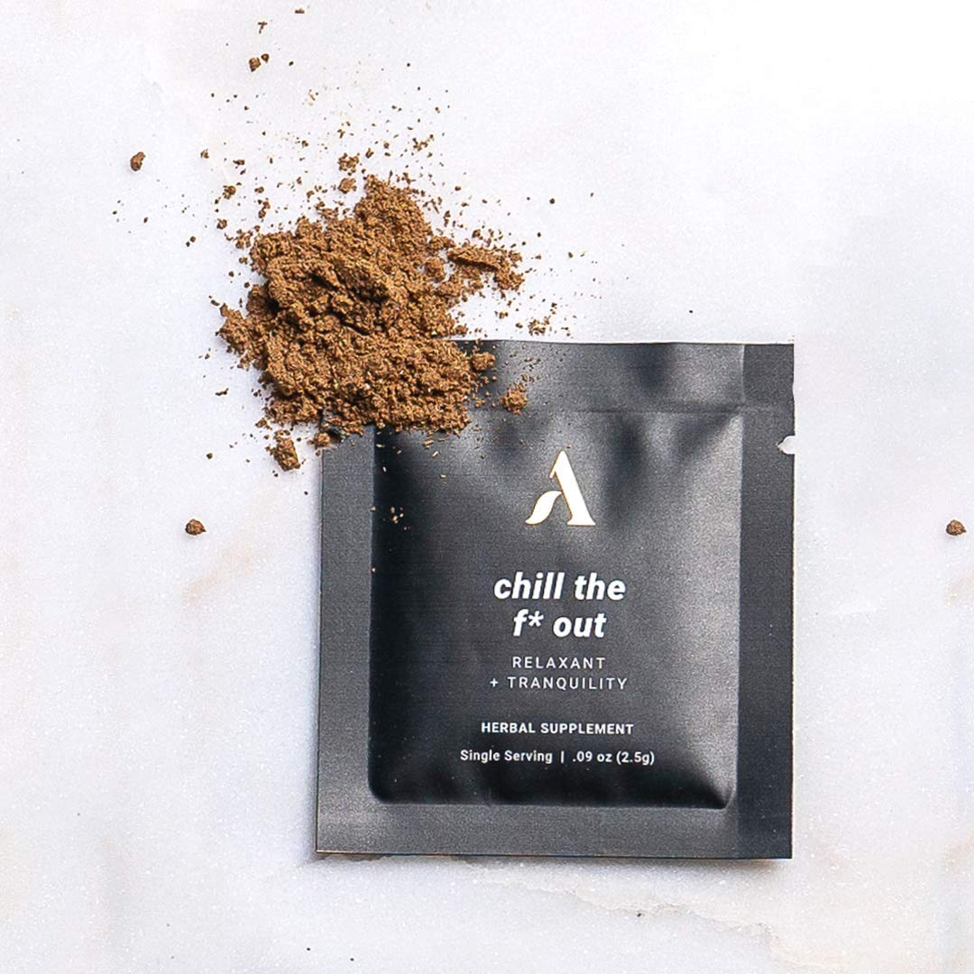 Apothékary - The Littles, Chill The F* Out (10-Pack) - Reishi Mushroom, Ashwagandha Root, Raw Cacao. Stress Relief, Relaxation, and Sleep Support. Chocolate Adaptogen Mushroom Blend. Vegan, Plant Based, Dairy Free, Gluten Free, Soy Free, No Added Sugars, Non-GMO. Adaptogen Mushroom Herbal Blend.