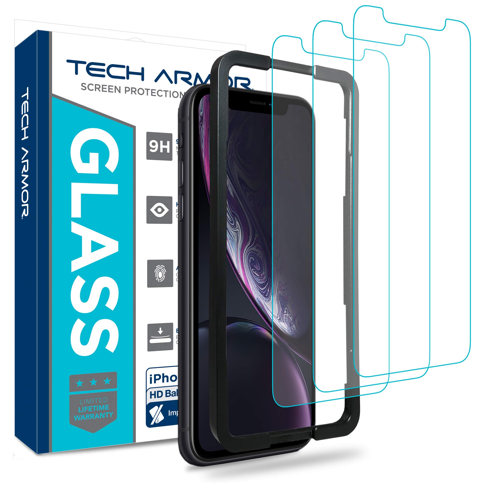 Vidrio Templado Para iPhone Xr [3 Un.] Tech Armor