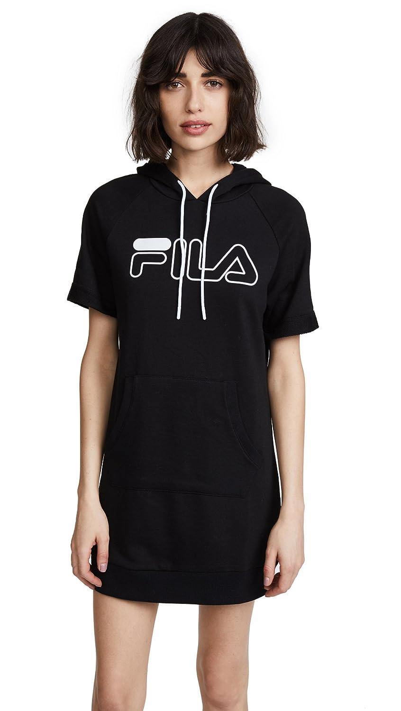 Fila DRESS レディース B0785LG9VT Large|ブラック、ホワイト ブラック、ホワイト Large