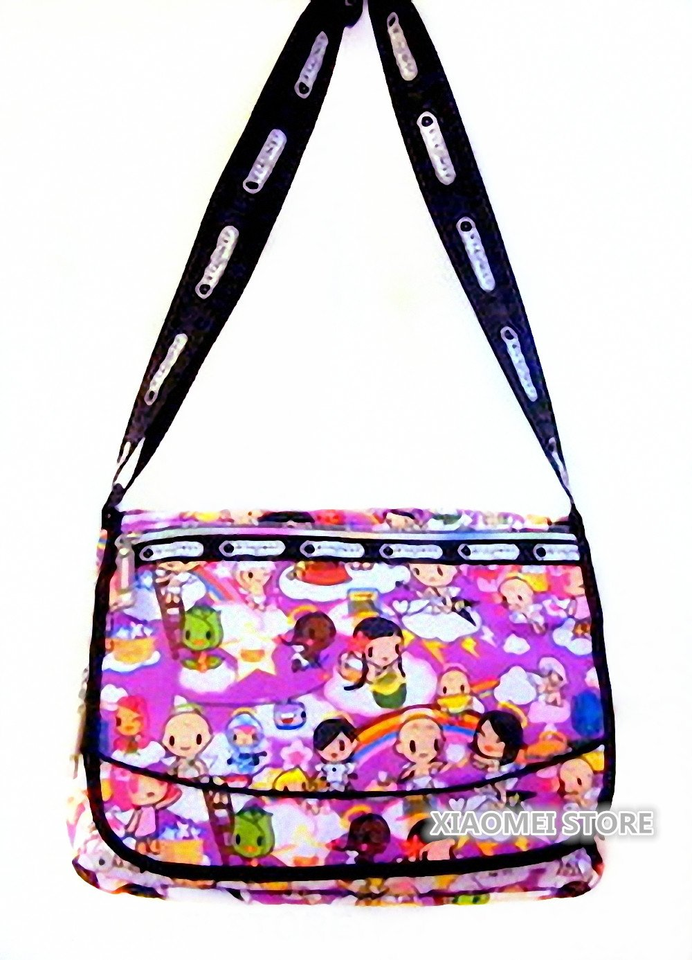 f952f29726c9 XIAOMEI Colourful Cartoon Girl s A4 Messenger Style Bag 825Z - for School  or College Etc  Amazon.co.uk  Sports   Outdoors