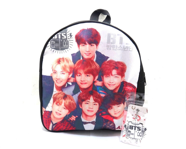 GSC Moda BTS Mini Backpack Daypack Bag Ladys Girls Set Includes Key Chain