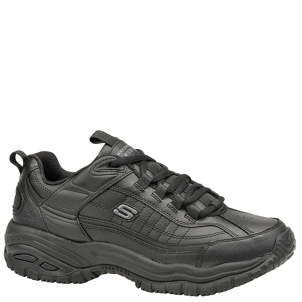 Skechers Men's Soft Stride - Galley Black Smooth Lthr/Midsole 9 EW