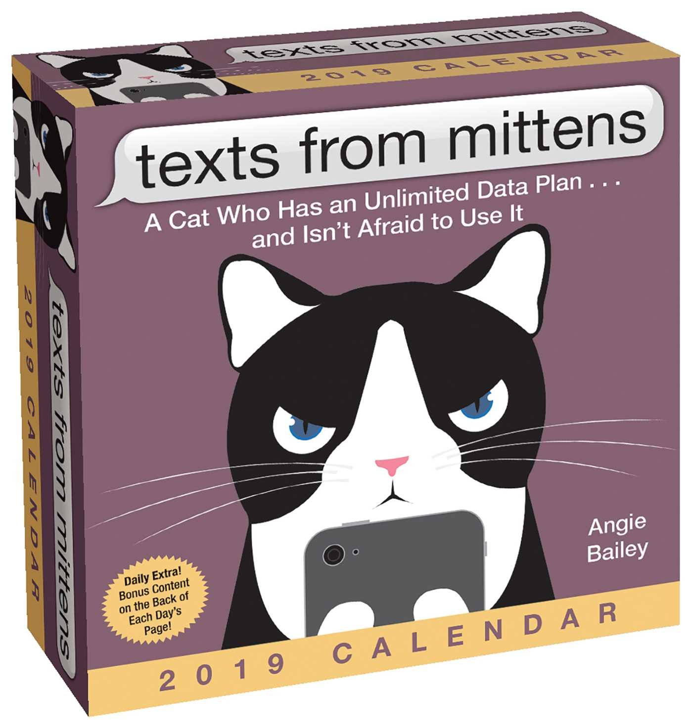 Beau Texts From Mittens The Cat 2019 Day To Day Calendar: Angie Bailey:  0050837418905: Amazon.com: Books