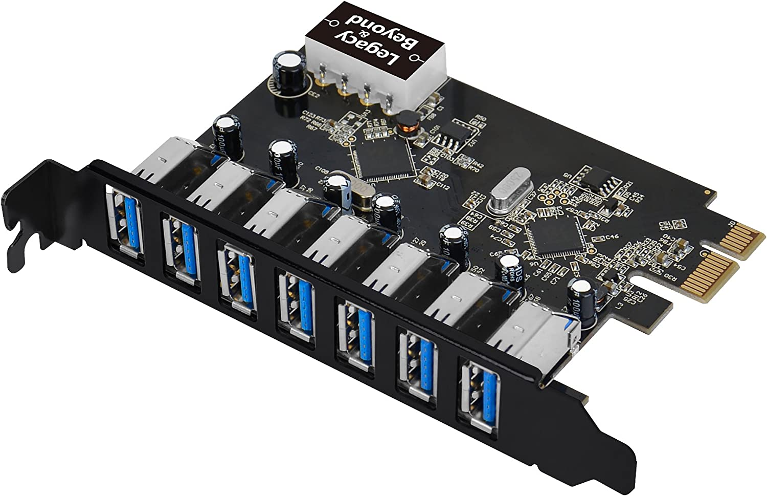 SIIG Legacy and Beyond Series PCIe to USB 3.0 7-Port PCI Express Card (External PCIe Host Card), Supports UASP