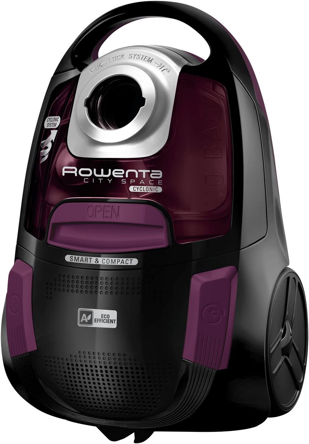 Rowenta City Space RO2759 - Aspiradora (750 W, Aspiradora cilíndrica, Secar, Sin Bolsa, 1,2 L, Ciclónico): Amazon.es: Hogar