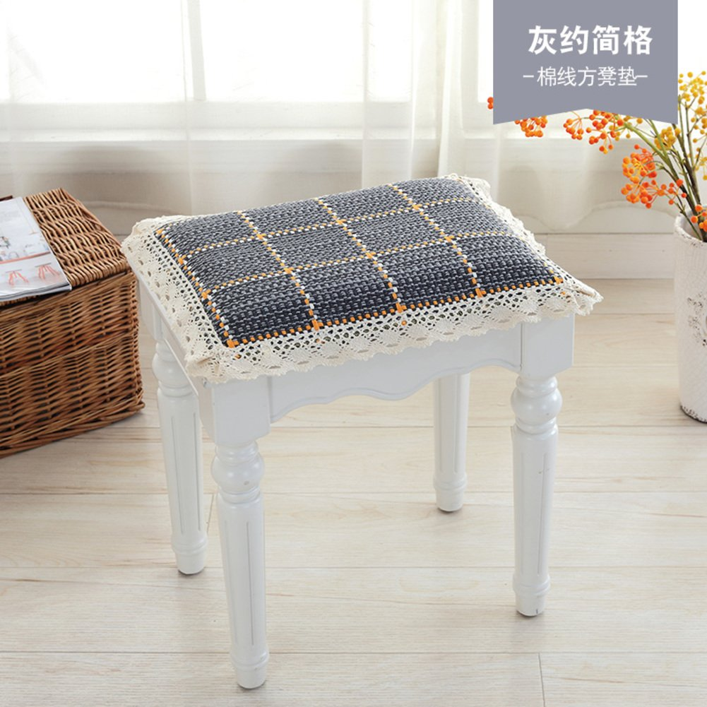 Nonslip Chair Pad,Dining Seat Cushions,Square Cotton Thin Decorative Mats Universal Four Seasons Stool Cover Firm Buttocks Cushions-A 12x12inch YQ WHJB