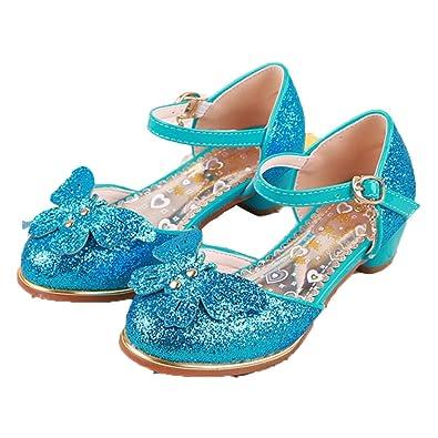 644c5182515 miaoshop Children Little Girls Glitter Crystal Rhinestone Low Heels Dress  Shoes (9 M US Toddler