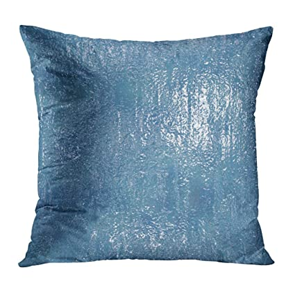 Amazon TOMKEYS Throw Pillow Cover Blue Glass Hi Res 40X40 Awesome Ice Blue Decorative Pillows