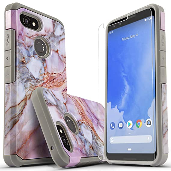best sneakers 5eb36 9a095 Star Google Pixel 3 Case with [Premium Screen Protector Included], Shock  Absorption Drop Protection[Not Fit Pixel 3 XL] Dual Layers Impact Advanced  ...