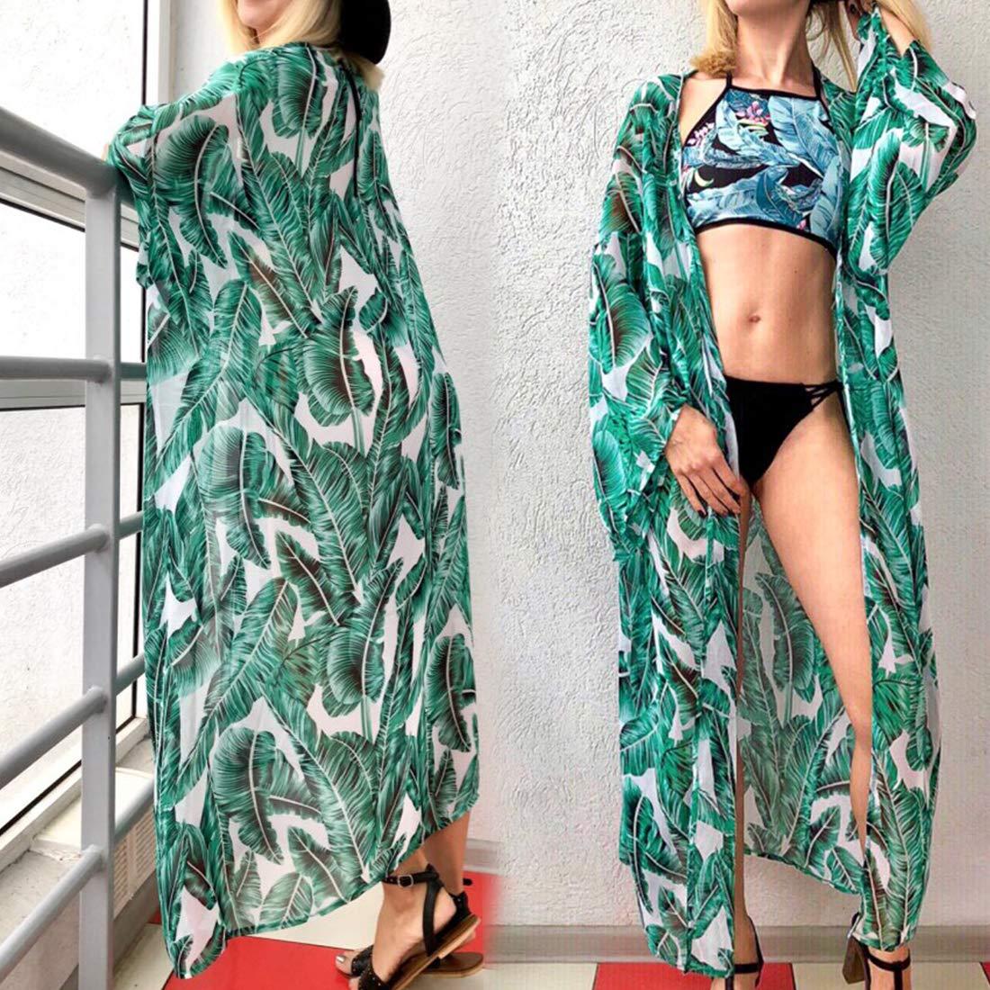 C/árdigan de Playa para Mujer con Estampado de Kaftan Maxi Baterflyo Pilflyo