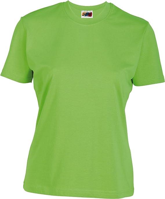 Emilio Fernández Camiseta Mujer 100% ALGODÓN Verde Pistacho: Amazon.es: Ropa y accesorios