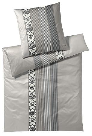 Joop Mako Satin Bettwäsche Ornament Stripe Beige 4022 77 240x220 Cm