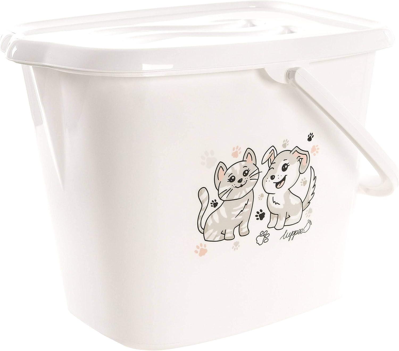 LUPPEE Cubo Pañales Bebe, Cubeta para Pañales con Tapa y Asa, Contenedor Pañales Bebe, Perro y Gato