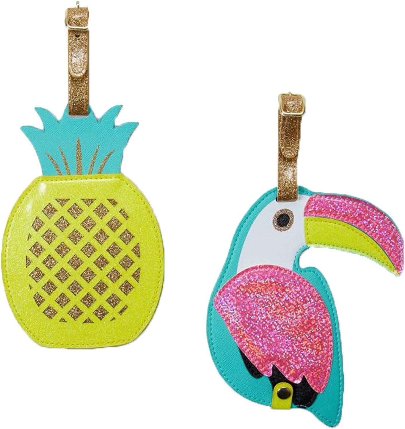 2 Pack Luggage Tags Toucans Pattern Handbag Tag For Suitcase Bag Accessories