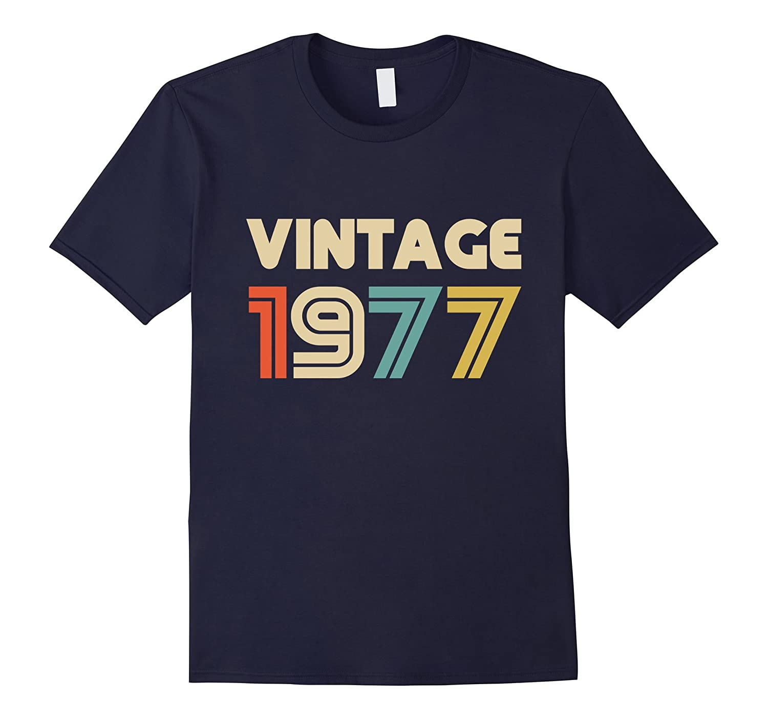 Vintage 1977 40th Birthday Gift T Shirt 40 Yrs Years Old Tee-FL