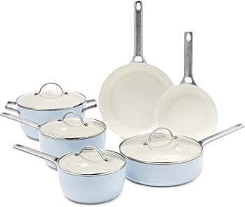 10-Piece GreenPan Padova Ceramic Non-Stick Cookware Set