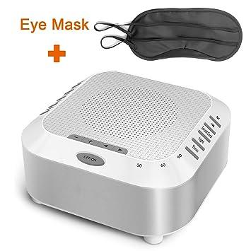 Natural Sound Machine - Rantizon Sleep Therapy Machine with 5 Nature Sounds, Timer Option,
