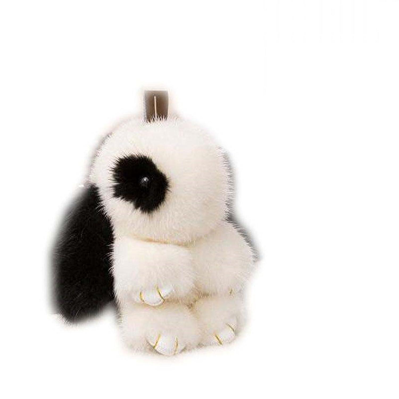 Cute Mink Rabbit Key Ring Genuine Fur Accessories Bunny Doll Pendant Car Keychain