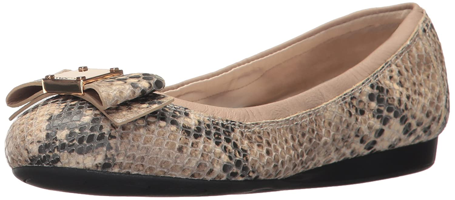 [Cole Haan] Women's Tali Bow Ballet Low Top Canvas Flat B073DRTJRD Roccia Snake Print 10 B(M) US