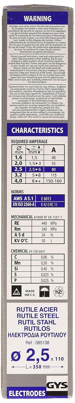 Gys - Electrodos para soldadura (110 x 2,5 mm)