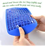 MagicW Mini Ice Cubes Tray Molds Silicone Ice Cube Trays Candy Molds, 3/8'' 160 Frozen Mini Cubes Keep Cool(Blue or Red, Pack of 2)
