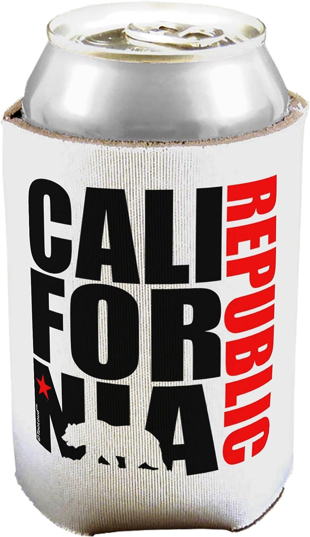 TooLoud California República diseño–California rojo Star y oso puede/botella aislante refrigeradores 1 Piece