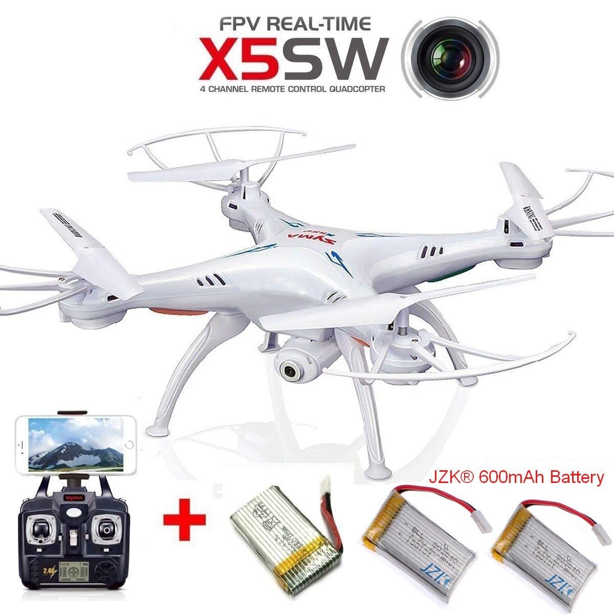 JZK® Syma X5SW WIFI FPV vivo tiempo real video cámara Dron ...