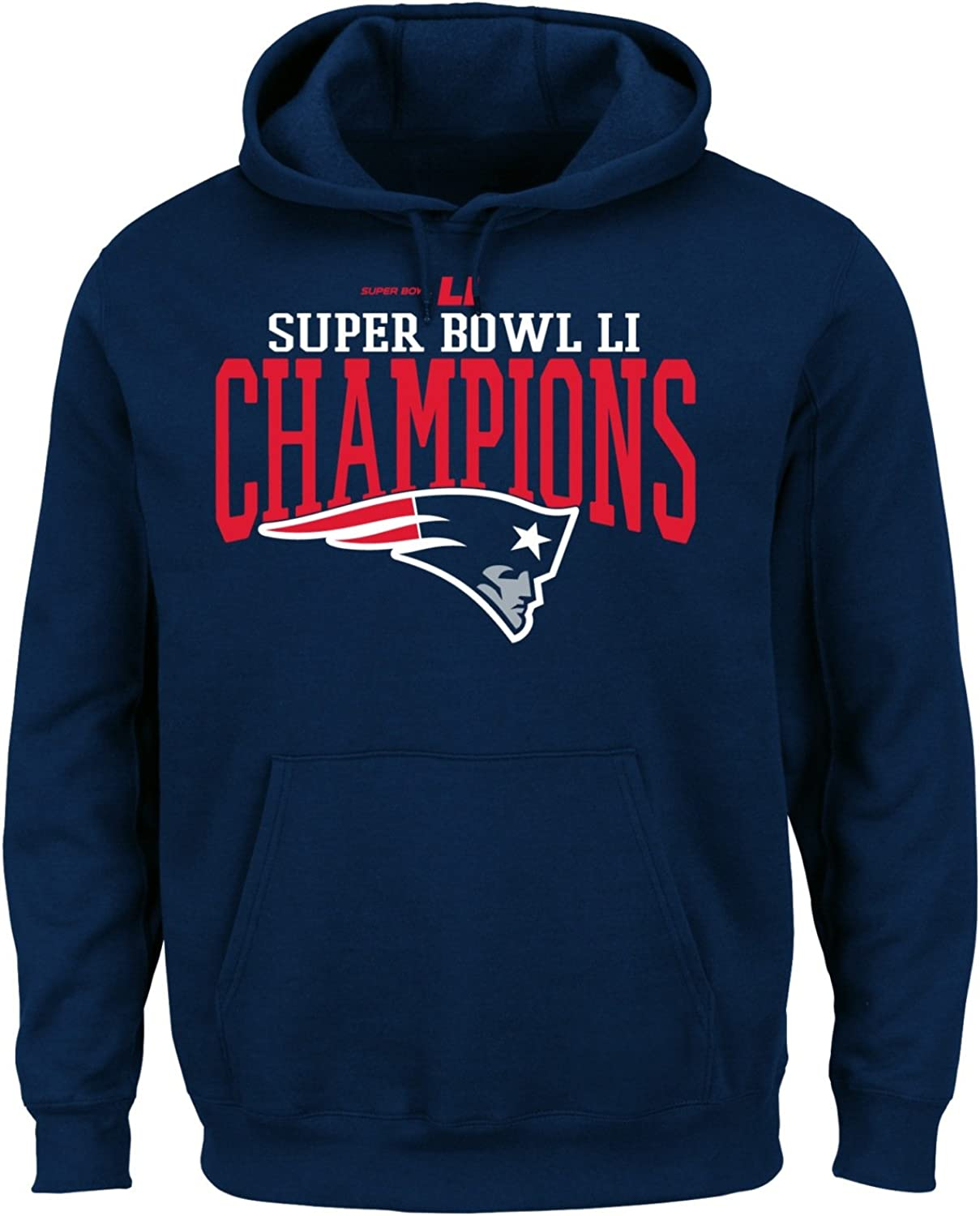 Navy X-Large NFL New England Patriots Ultra Game Mens LS CREW PULLOVER