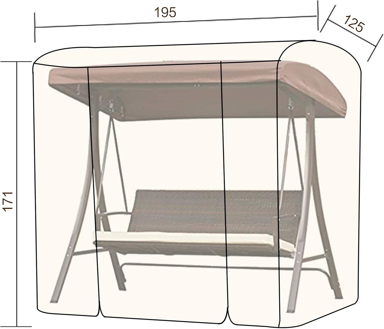 Angel Living Seat Cushion for 3 Seater Rattan Swing Chair Khaki