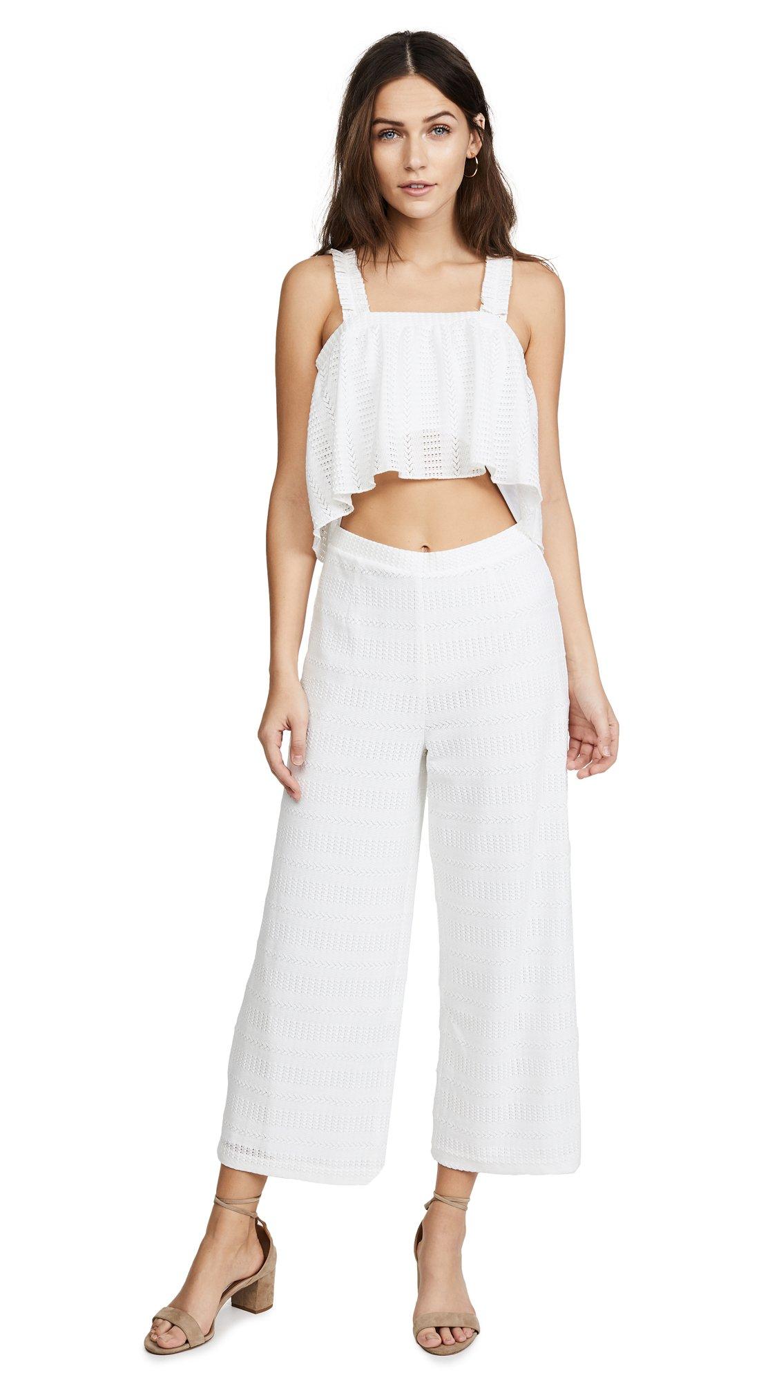 Saylor Women's Zion Jumpsuit, White, Large