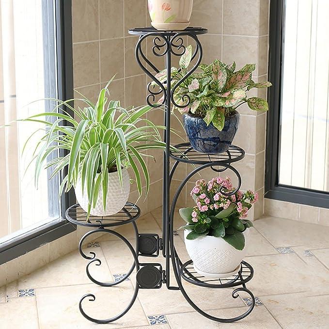Amazon.com: Pergolas/Flower Racks Iron Flower Stand Indoor/Outdoor Flower Stand Floor-Standing Flower Stand Modern and Simple Flower Stand Flower Pot Shelf ...