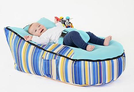 Para bebés de la haba bolsa para la compra de la silla de color azul y