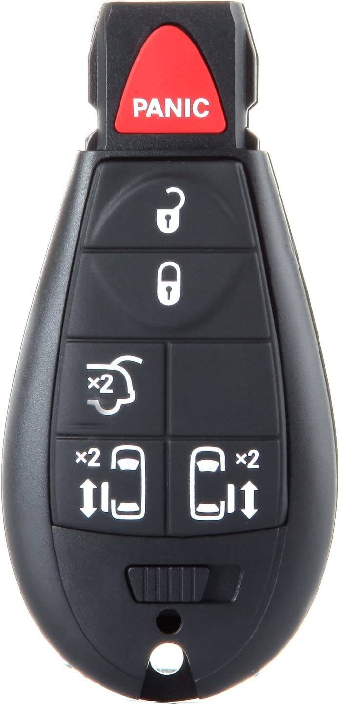 cciyu 1X Uncut 6 Buttons Keyless Entry Remote Fob Replacement fit for 08 09 10 11 12 13 14 Chrysler Town Country Dodge Grand Caravan M3N5WY783X IYZ-C01C