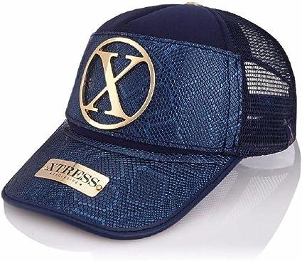 Xtress Exclusive Gorra de diseño azul para hombre y mujer ...