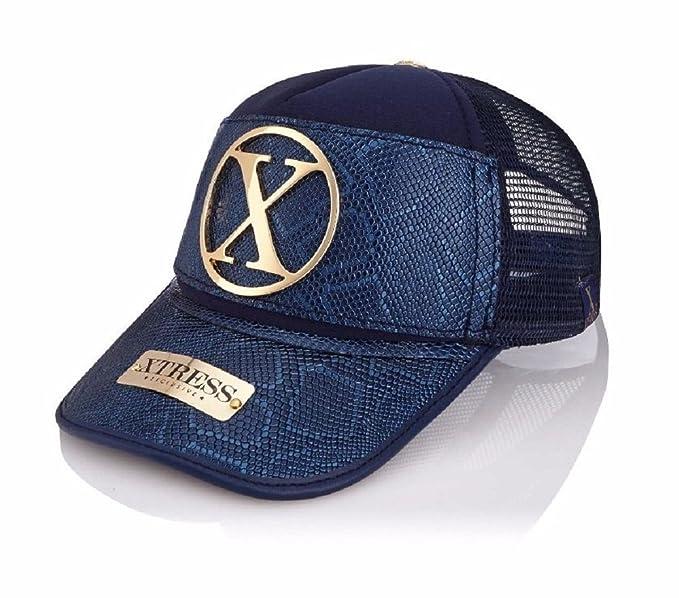 Xtress Exclusive Gorra de diseño azul para hombre y mujer.: Amazon.es: Ropa y accesorios