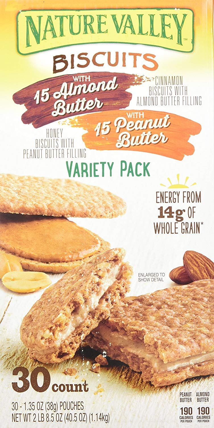 Nature Valley Biscuit Variety Pack (30 x 1.35 Oz), 40.5 Ounce
