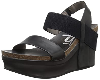 da452f42bd4 OTBT Women s Bushnell Wedge Sandal Black 5.5 ...