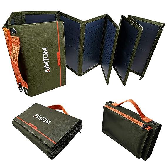 Amazon.com: AIMTOM Cargador Solar Portátil - Panel Solar ...